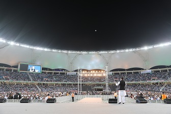 Rahul Gandhi addressing NRIs in Dubai. (INC photo)