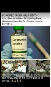 Israeli vaccine claim