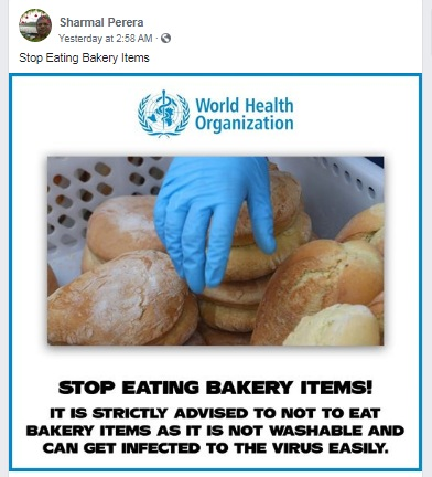 WHO bakery foods